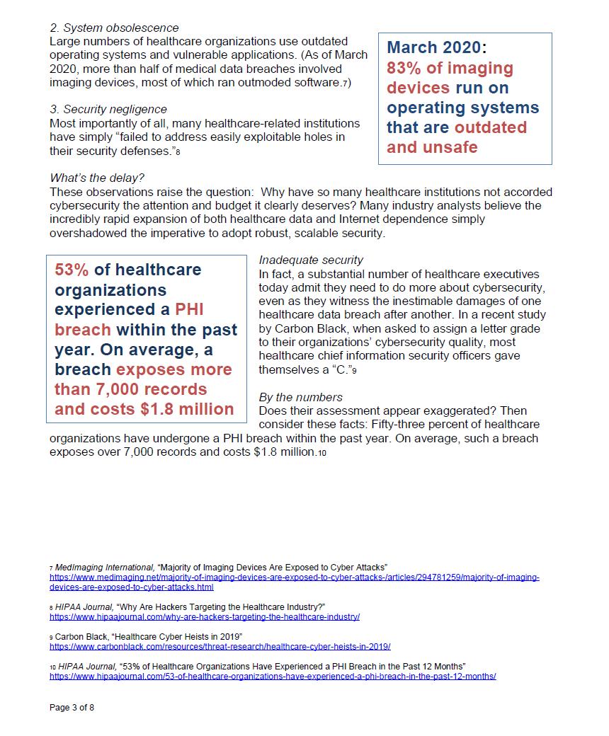 Healthcare cybersecurity copywriting